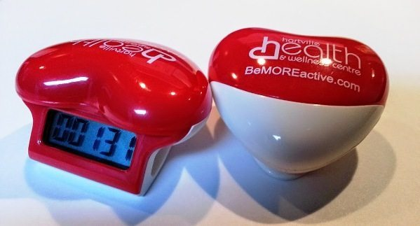 Stop by our office, ask for a pedometer and it will be given to you. Free.